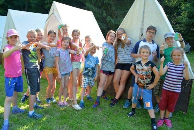 Děti na stanovém táboře Prorubky 2020